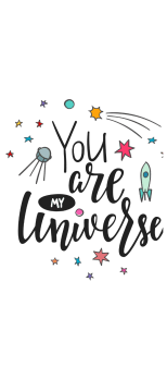 cover You are my Universe crop top