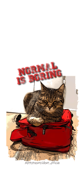 cover #1 Normal is Boring by Otto