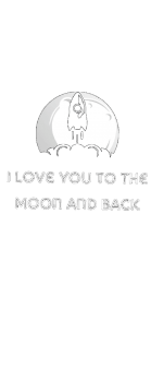 cover I love you to the moon and back black