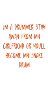 cover I'm a drummer stay away from my girlfriend or you become my snare drum