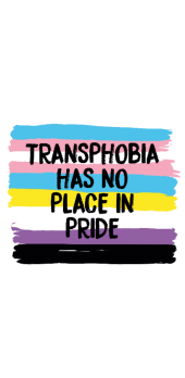 cover TRANSPHOBIA HAS NO PLACE IN PRIDE