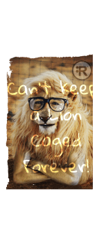 cover Racestyle® Can't Keep a Lion Caged Forever