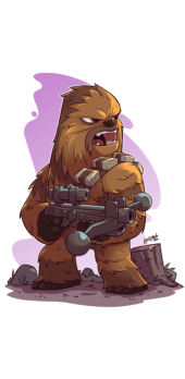 "cover Chewbacca ""STAR WARS"""