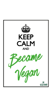 cover keep calm and became vegan