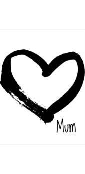 cover heart mum