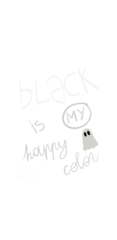 cover black is my happy color