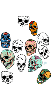 cover skull multicolor