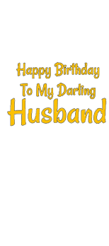 cover Happy Birthday To My Darling Husband Tshirt