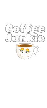 cover Funny Coffee Junkie t shirt for all lovers of coffee