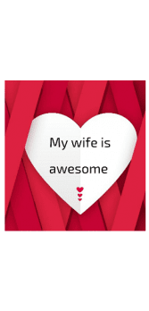 cover My wife is awesome Tshirt