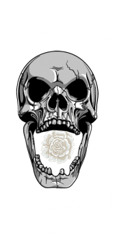 cover flowered skulls
