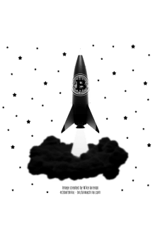 maglietta Bitcoin Rocket - Bitcoin to the Moon - versione III