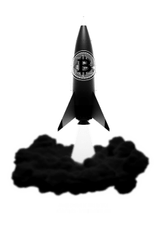 maglietta Bitcoin Rocket - Bitcoin to the Moon - versione V