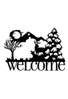 maglietta Welcome forest