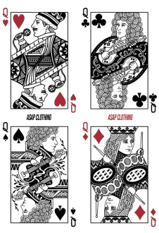 maglietta QUEEN CARDS