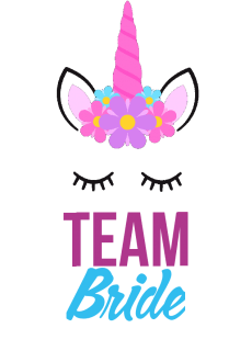maglietta Team Bride unicorno