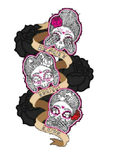 maglietta Skulls Tattoo Pin Up
