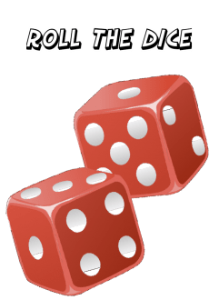 maglietta roll the dice, taking a chance on life