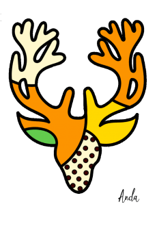 maglietta the deer #1 (bambina)