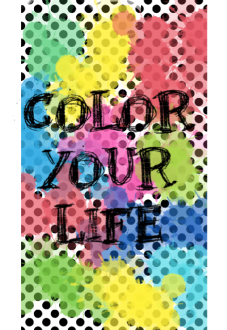 maglietta COLOR YOUR LIFE
