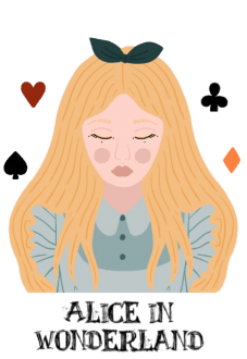 maglietta Alice in wonderland