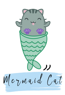 maglietta Mermaid Cat