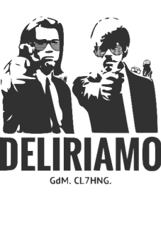 maglietta Pulp Fiction loves Deliriamo