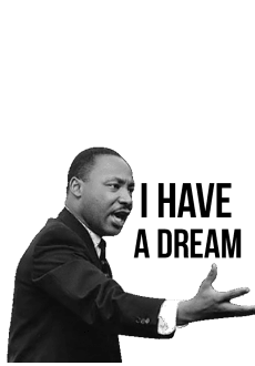 maglietta 'I Have a Dream' Cit-Martin Luther King