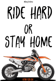 maglietta Ride Hard or Stay Home By ManuSicilianu