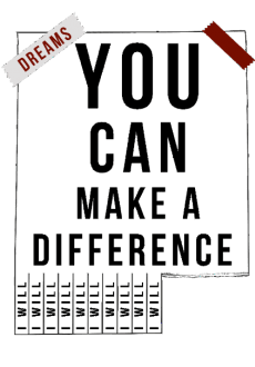 maglietta T-shirt // You can make a difference