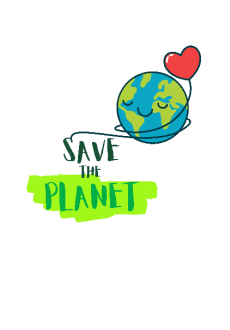 maglietta save the planet
