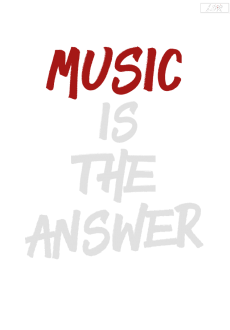 maglietta Music Is The Answer Tee