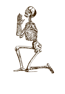 maglietta praying skeleton
