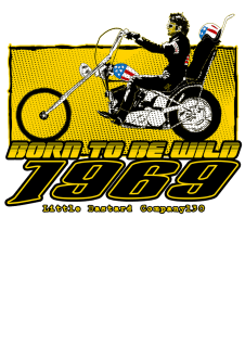 maglietta Born To Be wild 1969