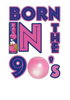maglietta Born in the 90's