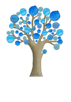 maglietta blue tree