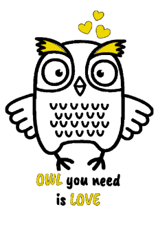 maglietta owl you need is love...