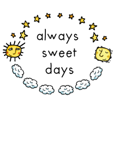 maglietta always sweet days