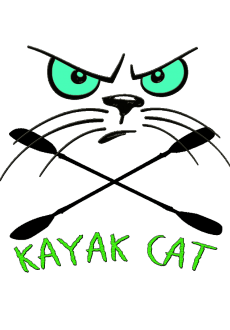 maglietta Kayak Cat Monster logo