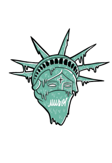 maglietta Statue Of Liberty by Muso4.20