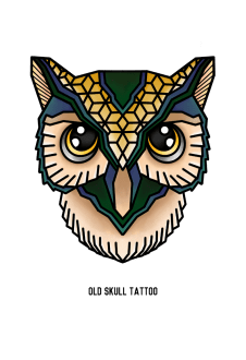 maglietta Owl - Geometric Collection