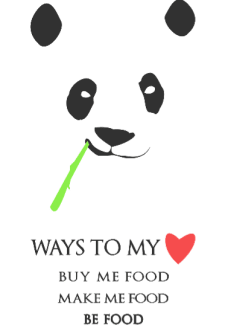 maglietta Ways to be in a panda's heart