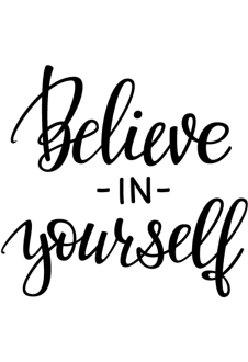 maglietta Believe in yourself