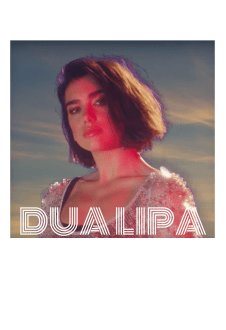 maglietta T-Shirt - Dua Lipa One Kiss