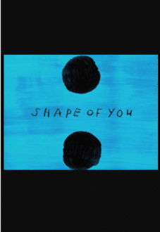 maglietta Cover Shape of You, Ed Sheeran.