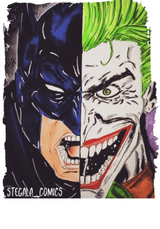 maglietta batman Vs joker