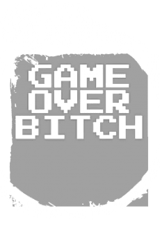maglietta Game over Bitch