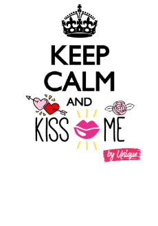 maglietta Keep calm and kiss me