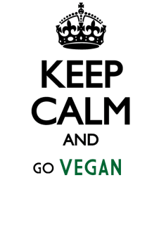 maglietta Keep Calm and Go Vegan