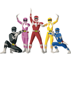 maglietta Power Rangers